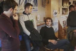 Giacomo Rauli, giornalista Motorsport.com, con Umberto Scandola e Guido d'Amore, Skoda Fabia R5, Sko