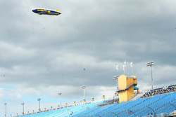 The Goodyear blimp flies over Homestead-Miami Speedway