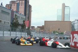 Gerhard Berger, McLaren MP4/6 Honda, Nelson Piquet and Roberto Moreno, Benetton B190B Ford