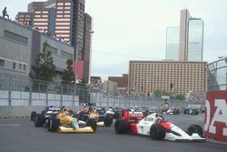 Gerhard Berger, McLaren MP4/6, Nelson Piquet, Benetton B190B, Roberto Moreno, Benetton B190B