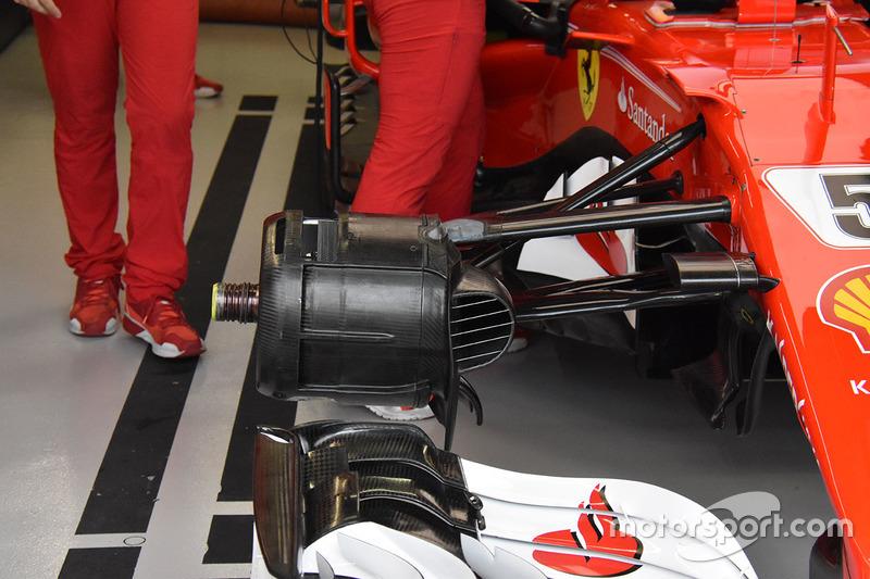 Vue détaillée des freins avant de la Ferrari SF70H