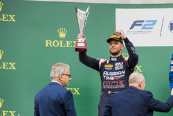 Podium: second place Luca Ghiotto, RUSSIAN TIME