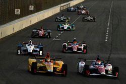 Ryan Hunter-Reay, Andretti Autosport Honda, Carlos Muñoz, A.J. Foyt Enterprises Chevrolet
