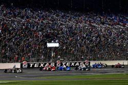 Will Power, Team Penske Chevrolet, Marco Andretti, Andretti Autosport Honda, Scott Dixon, Chip Ganassi Racing Honda, Max Chilton, Chip Ganassi Racing Honda