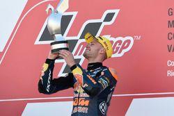 Podium: Race winner Brad Binder, Red Bull KTM Ajo, KTM