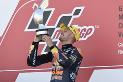 Podium: Race winner Brad Binder, Red Bull KTM Ajo, KTM