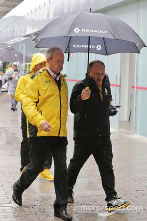 Jerome Stoll, Renault Sport F1, Präsident; Frederic Vasseur, Renault Sport F1 Team, Renndirektor