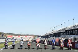 9 winners line up, Jorge Lorenzo, Yamaha Factory Racing, Valentino Rossi, Yamaha Factory Racing, Jac