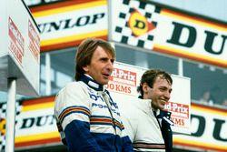 Race winners Stefan Bellof, Derek Bell, Porsche 956