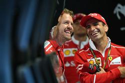 Sebastian Vettel, Ferrari and Marc Gene, Ferrari