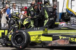 Arrêt au stand de Charlie Kimball, Chip Ganassi Racing Honda