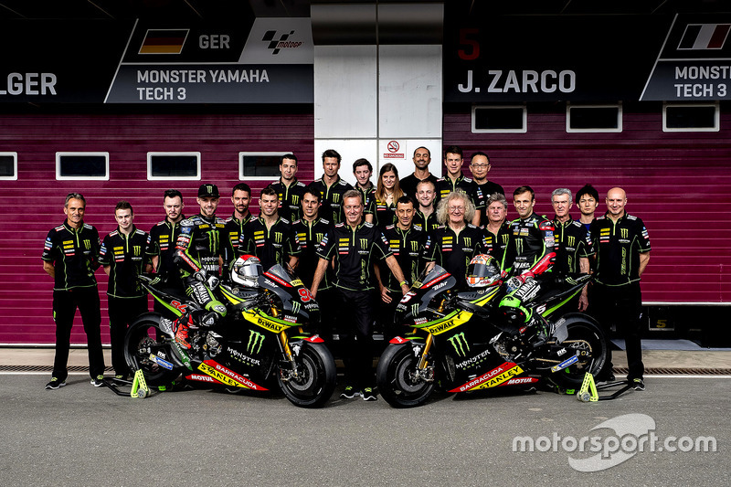 Jonas Folger, Monster Yamaha Tech 3; Johann Zarco, Monster Yamaha Tech 3, Team photo