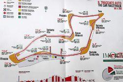 La piantina dell'Autodromo Enzo e Dino Ferrari di Imola