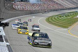 Jordan Anderson, Rick Ware Motorsports Chevrolet, Grant Enfinger, ThorSport Racing Toyota
