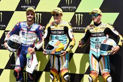 Polesitter Gabriel Rodrigo, RBA Racing Team, second place Romano Fenati, Marinelli Rivacold Snipers, third place Juan Francisco Guevara, RBA Racing Team