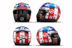 Tributo a Nicky Hayden en el casco de Romain Grosjean