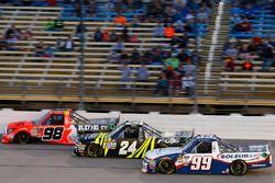 Grant Enfinger, ThorSport Racing Toyota, Justin Haley, Chevrolet, Brandon Jones, Chevrolet