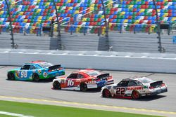 Casey Mears, Biagi-DenBeste Racing Ford, Ryan Reed, Roush Fenway Racing Ford and Joey Logano, Team P