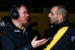 (L to R): Alan Permane, Renault Sport F1 Team RS17 Trackside Operations Director with Cyril Abitebou