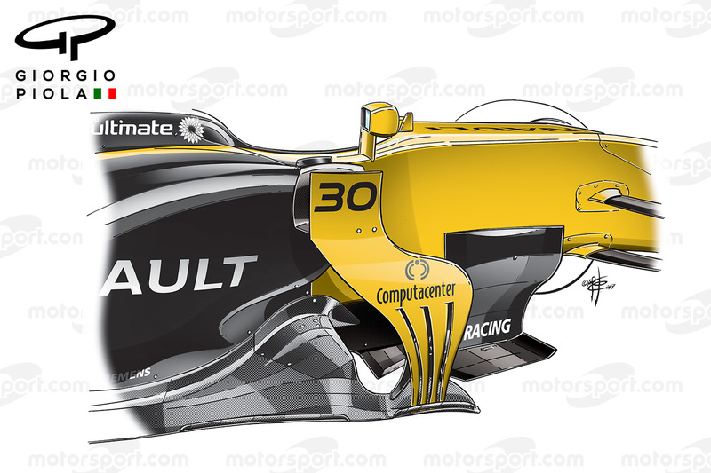 Renault RS17 barge boards