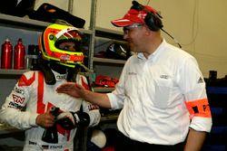 #28 Audi Sport Team Land-Motorsport, Audi R8 LMS: Pierre Kafferm and Chris Reinke