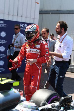 Ganador de la pole Kimi Raikkonen, Ferrari