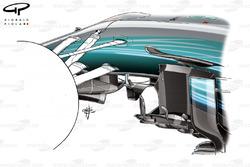 Mercedes W08 new turning vane, Monaco GP