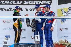 Podium : le vainqueur Pietro Fittipaldi, Lotus, le deuxième Egor Orudzhev, SMP Racing, le troisième Matevos Isaakyan, SMP Racing