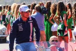 Esteban Ocon, Sahara Force India on the drivers parade