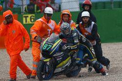 Remy Gardner, Tech 3 Racing après sa chute