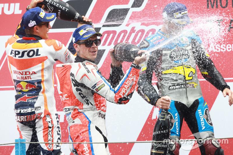 Podio: il vincitore della gara Jack Miller, Marc VDS Racing Honda, il secondo classificato Marc Marquez, Repsol Honda Team, il terzo classificato Scott Redding, Pramac Racing