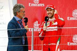 Eddie Jordan con Sebastian Vettel, Ferrari