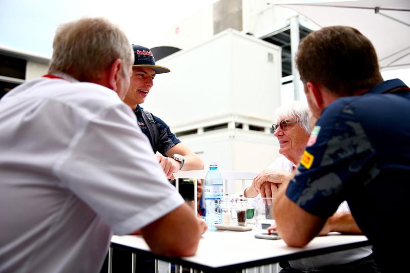 Max Verstappen, Red Bull Racing, Bernie Ecclestone, Red Bull Racing Takım Patronu Christian Horner v