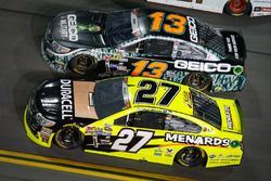 Paul Menard, Richard Childress Racing Chevrolet, Casey Mears, Germain Racing Chevrolet