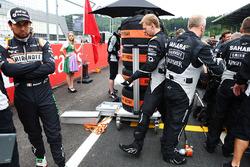 Sergio Perez, Sahara Force India F1 sur la grille