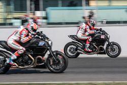 Andrea Dovizioso, Ducati Team y Casey Stoner, Ducati Team