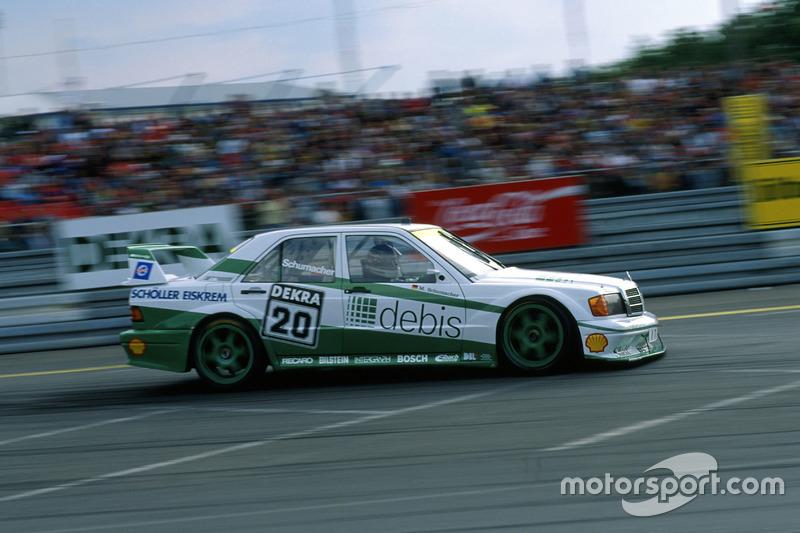 Популярность чемпионата DTM росла. Тогда еще малоизвестный гонщик Михаэль Шумахер принял участие в тестах автомобиля Mercedes