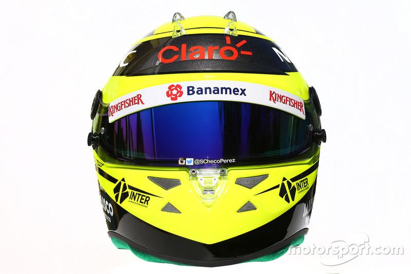 Le casque de Sergio Pérez, Sahara Force India F1