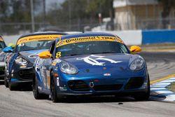 #8 Rebel Rock Racing Porsche Cayman: Robin Liddell, Elliott Skeer
