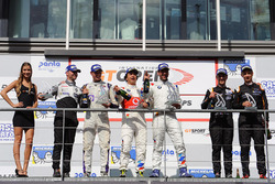 Podium: race winner #1 BMW Team Teo Martin, BMW M6 GT3: Miguel Ramos, Roldan Rodriguez, Second place #14 V8 Racing Renault RS01: Nicky Pastorelli, Joshua Webster, third place #88 Garage59 Racing McLaren 650S: Côme Ledogar, Alexander West