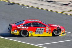 Alex Bowman, Hendrick Motorsports Chevrolet, crashed car