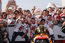 Marc Marquez, Repsol Honda Team, vainqueur de la course et Champion du monde