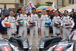 #1 Porsche Team Porsche 919 Hybrid: Timo Bernhard, Mark Webber, Brendon Hartley et #2 Porsche Team Porsche 919 Hybrid: Romain Dumas, Neel Jani, Marc Lieb