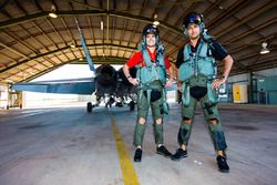 Fabian Coulthard, Team Penske Ford, Scott Pye, Team Penske Ford try out a RAAF fighter jet