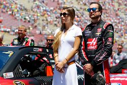 Ashley Van Metre et Kurt Busch, Stewart-Haas Racing Chevrolet