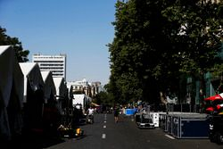 The GP2 paddock