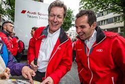 Audi Sport Team Joest Managing Direktor Ralf Jüttner und Benoit Tréluyer