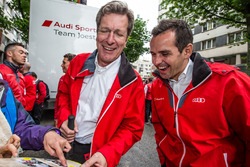 Audi Sport Team Joest Managing Director Ralf Jüttner and Benoit Tréluyer