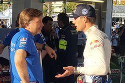 Jost Capito, Volkswagen Motorsport Director and Sébastien Ogier, Volkswagen Polo WRC, Volkswagen Mot