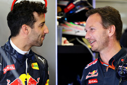 Christian Horner, Red Bull Racing, Teamchef; Daniel Ricciardo, Red Bull Racing